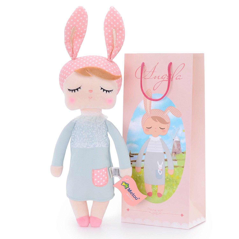 """Мягкая игрушка MeToo Зайка - сплюшка """"Angela """" цвет: серый"""