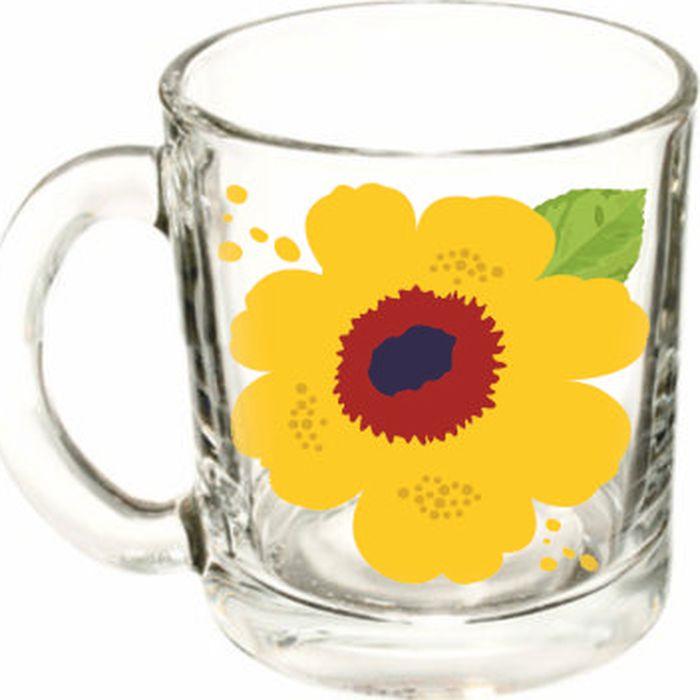 Кружка ОСЗ Чайная Яркие цветы, в ассортименте, OCZ1208/1LTFLOW, 300 мл кружка осз чайная радужные цветы 300 мл