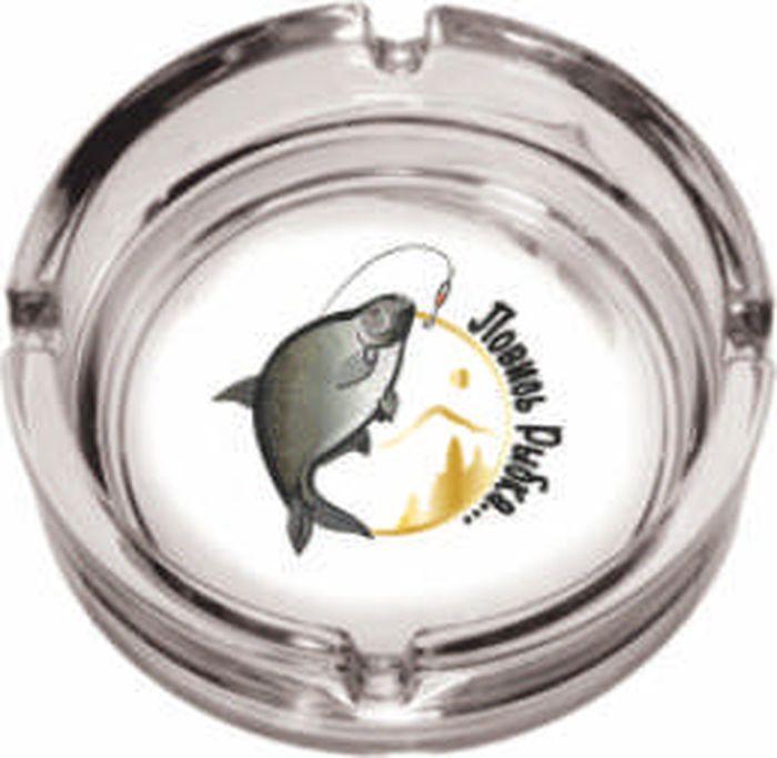 Пепельница ОСЗ Круглая Рыбалка, диаметр 10,6 см