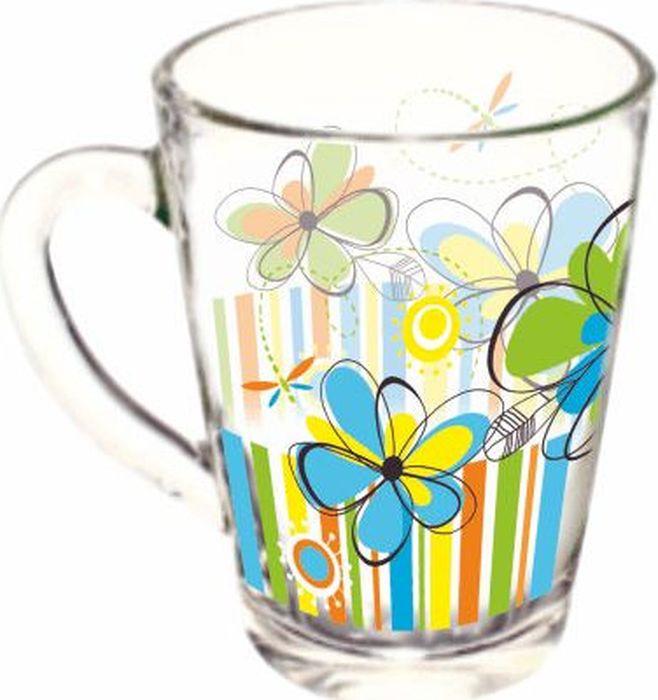 Кружка ОСЗ Капучино Радужные цветы, OCZ1334/1RDFOW, 300 мл кружка осз чайная радужные цветы 300 мл