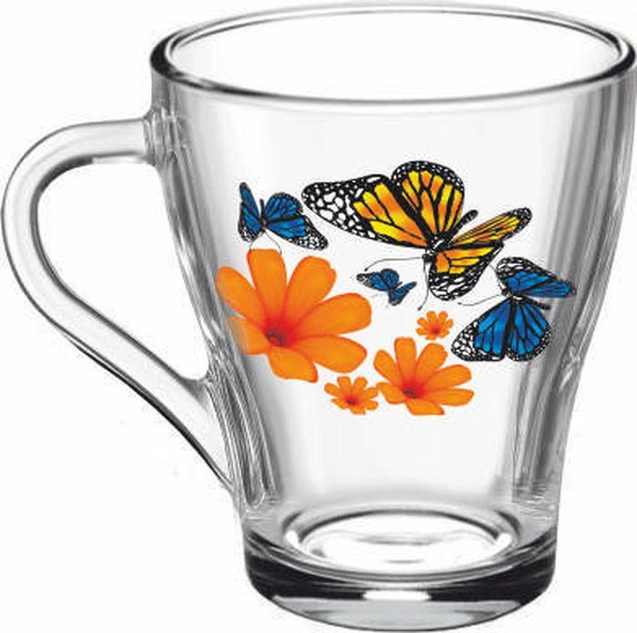 Кружка ОСЗ Грация Бабочки и оранжевые цветы, 250 мл
