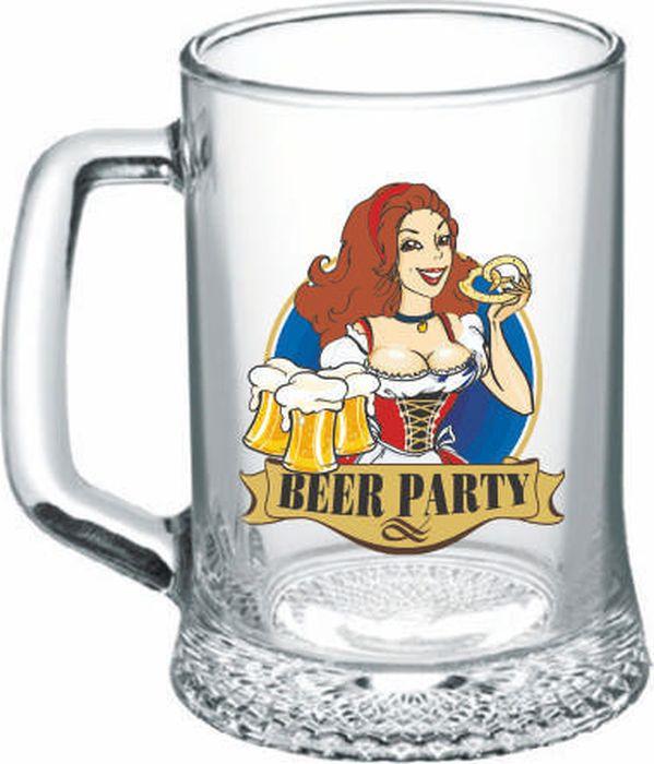 Кружка пивная ОСЗ Ладья Праздник Пива, OCZ1008PRZ, в ассортименте, 500 мл кружка д пива osz ладья 330мл стекло