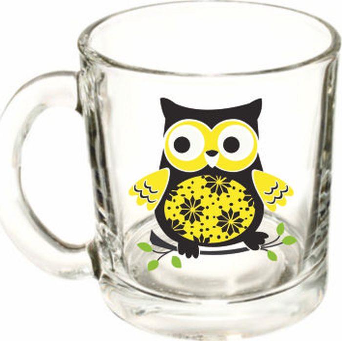 Кружка ОСЗ Чайная Совы, в ассортименте, OCZ1208SOVA2, 300 мл кружка осз чайная радужные цветы 300 мл