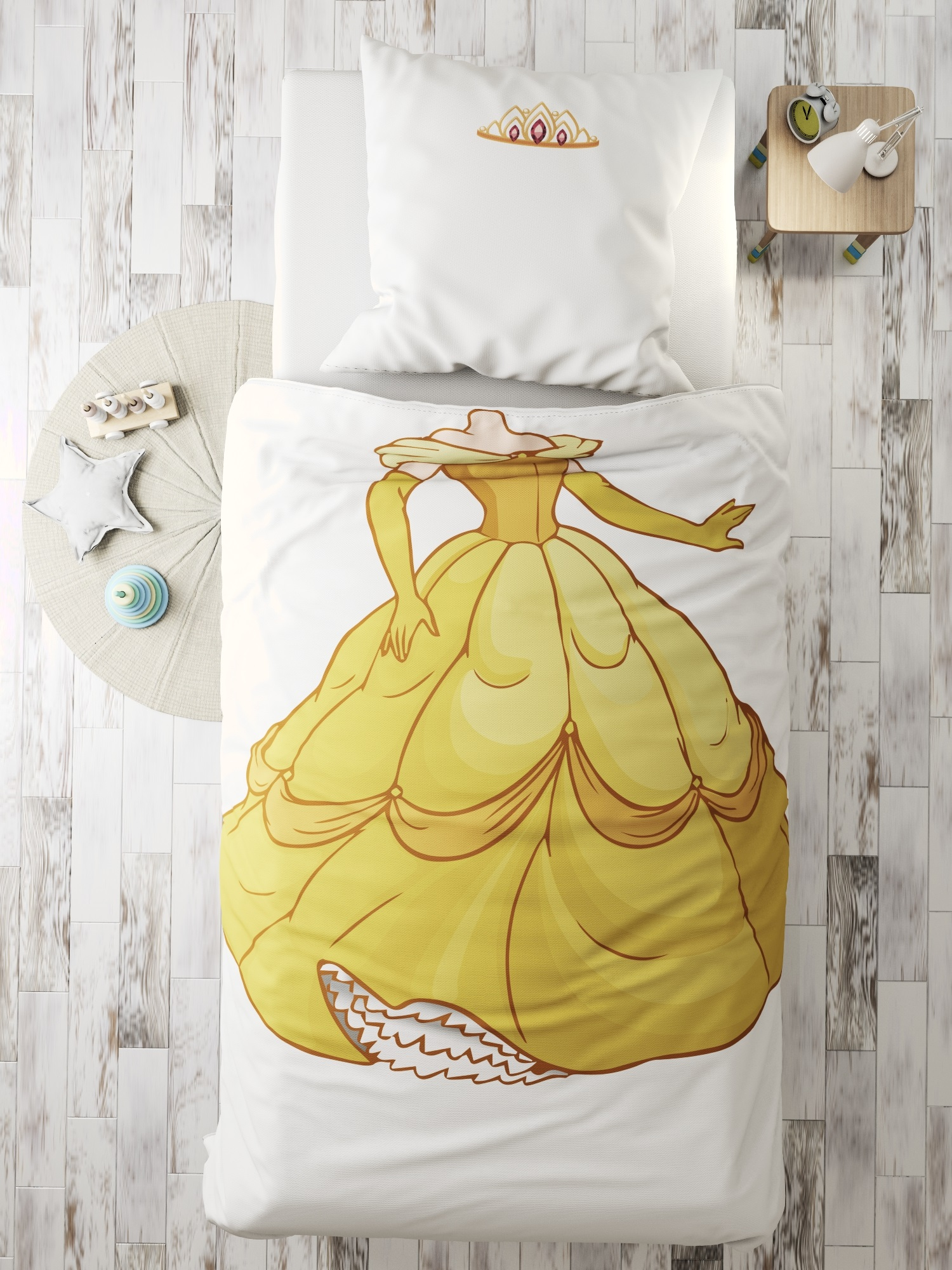 Комплект в кроватку Принцесса, белый