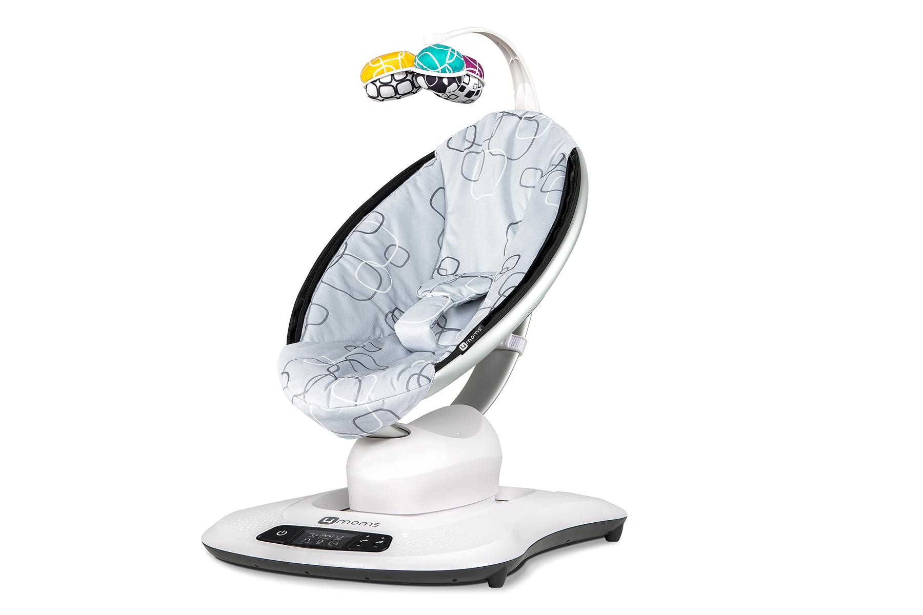 Качели для новорожденных 4moms MamaRoo 4.0 - серый плюш электронный шезлонг качалка 4moms mamaroo 4 серый плюш