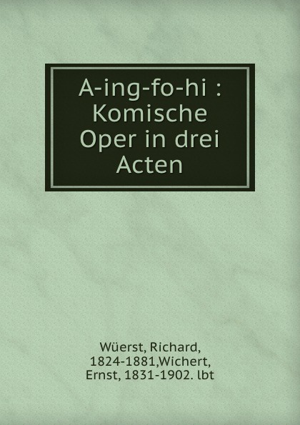 Richard Wüerst A-ing-fo-hi r wüerst a ing fo hi op 65