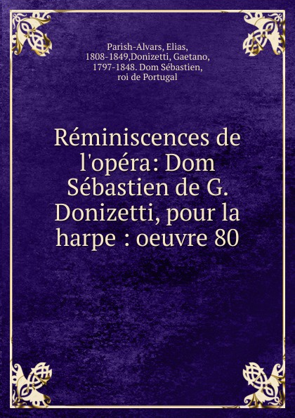 Reminiscences de l.opera