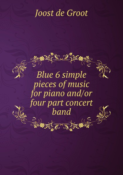 Joost de Groot Blue 6 simple pieces of music for piano and blue gemstones decor four pieces jewelry set