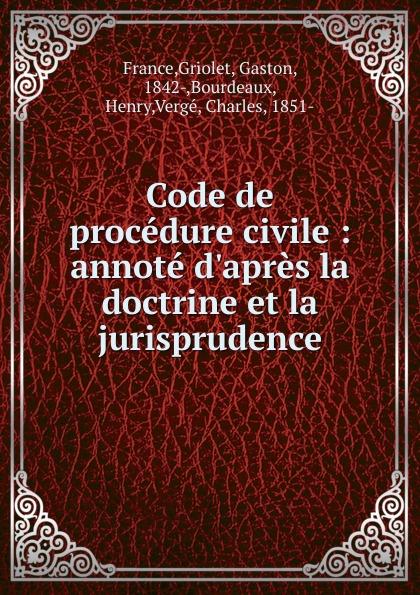 где купить Griolet France Code de procedure civile по лучшей цене
