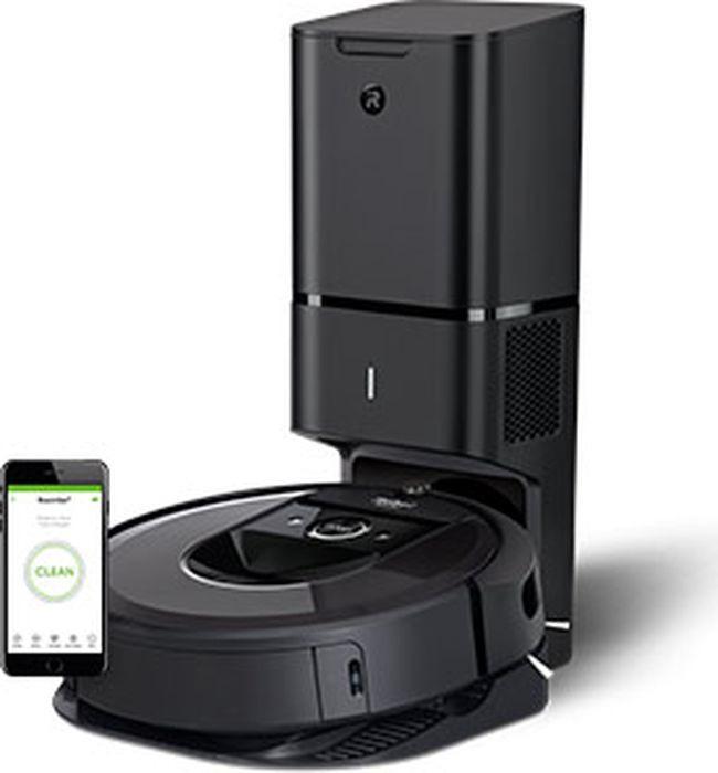 Робот-пылесос iRobot Roomba i7+, серый, черный