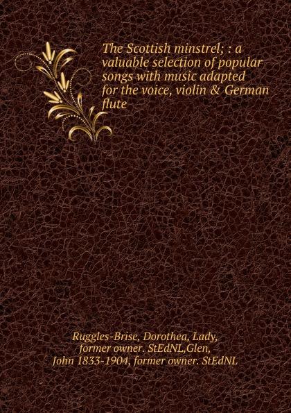 John Playford The Scottish minstrel john playford edinburgh repository of music