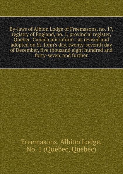 цена на Freemasons. Albion Lodge By-laws of Albion Lodge of Freemasons