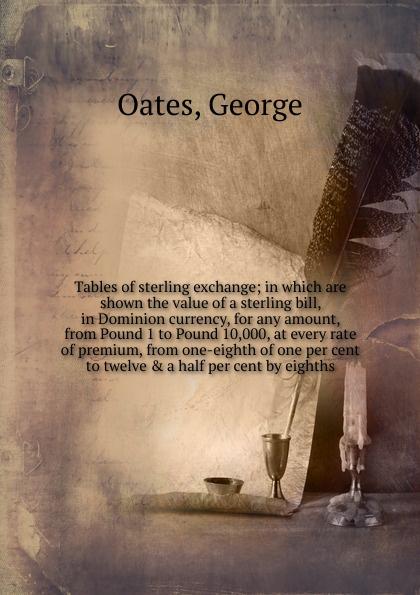 цены на George Oates Tables of sterling exchange  в интернет-магазинах