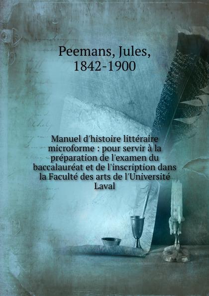 Jules Peemans Manuel d.histoire litteraire microforme