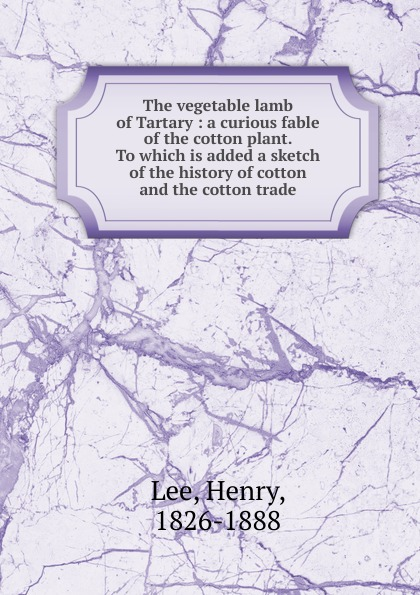 Henry Lee The vegetable lamb of Tartary джемпер henry cotton s henry cotton s he024emyrk44