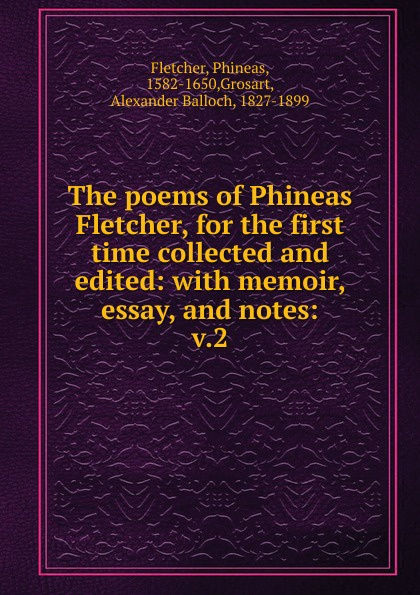 Phineas Fletcher The poems. Volume 2 tervis phineas and ferb tumbler with wrap 16 ounce