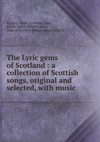 John Playford The Lyric gems of Scotland john playford edinburgh repository of music
