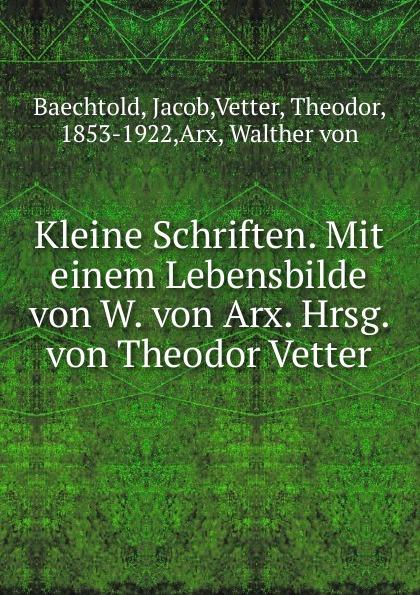 Jacob Baechtold Kleine Schriften j keats hyperion mit einleitung hrsg von johannes hoops