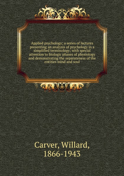 лучшая цена Willard Carver Applied psychology