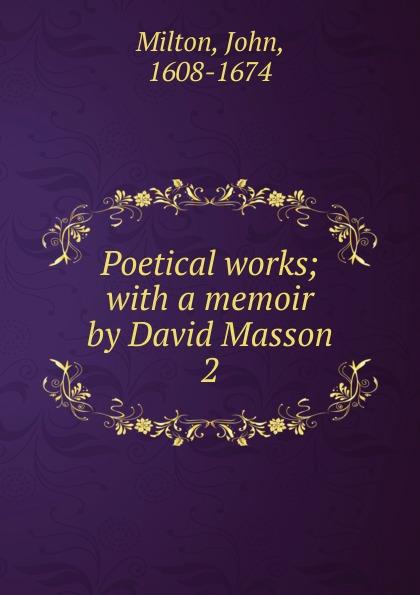 Milton John The poetical works. Volume 2