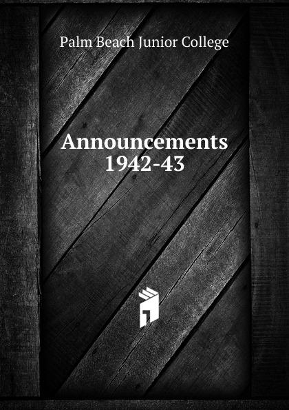 Announcements 1942-43
