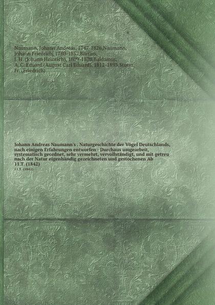 Johann Andreas Naumann Naturgeschichte der Vogel Deutschlands. Theil 11 andreas johannes jackel systematische ubersicht der vogel bayerns
