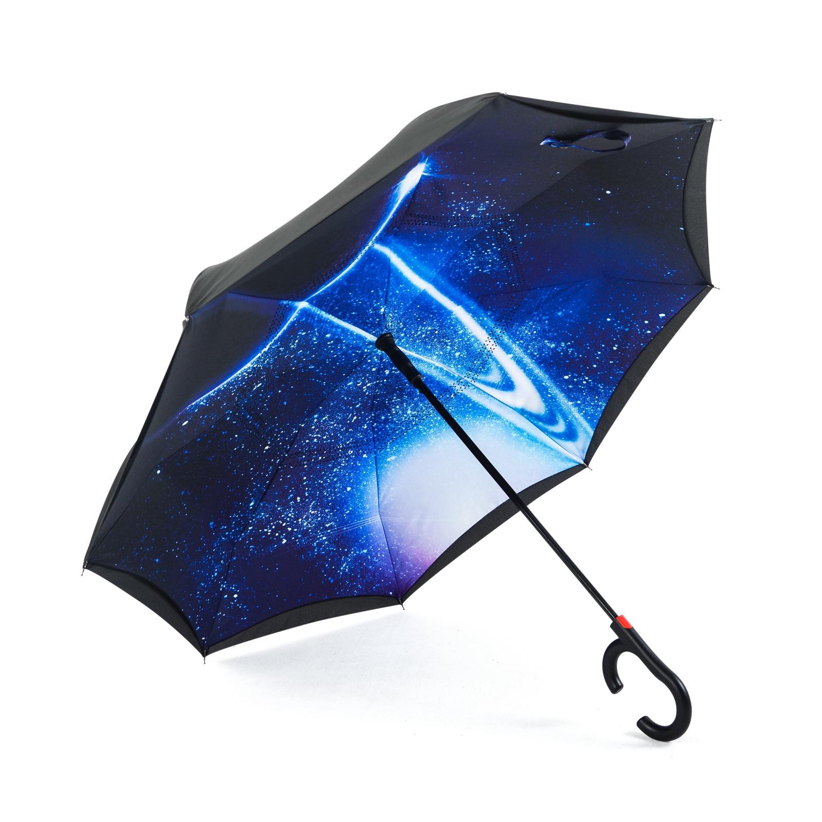 Зонт Maple Leaf обратного сложения, синий maple leaf print night dress