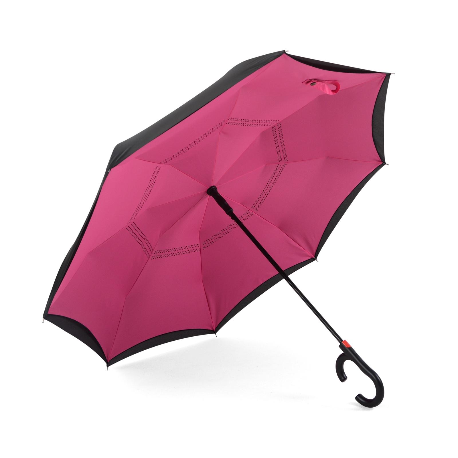 Зонт Maple Leaf обратного сложения, розовый maple leaf print night dress