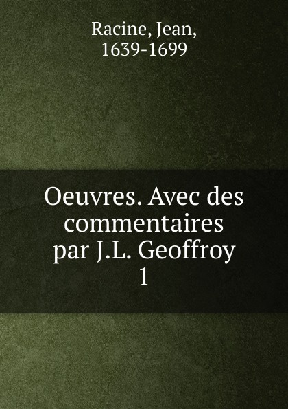 Фото - Jean Racine Oeuvres. Tome 1 jean paul gaultier le male