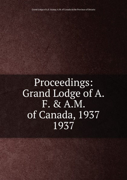 Proceedings. 1937