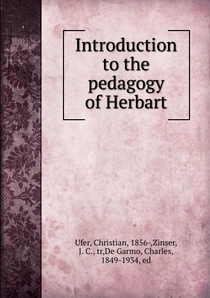 Christian Ufer Introduction to the pedagogy of Herbart approaches to beginning string pedagogy