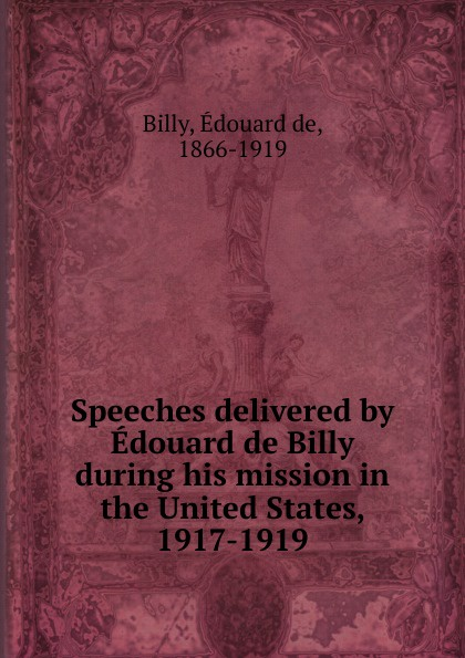 Édouard de Billy Speeches