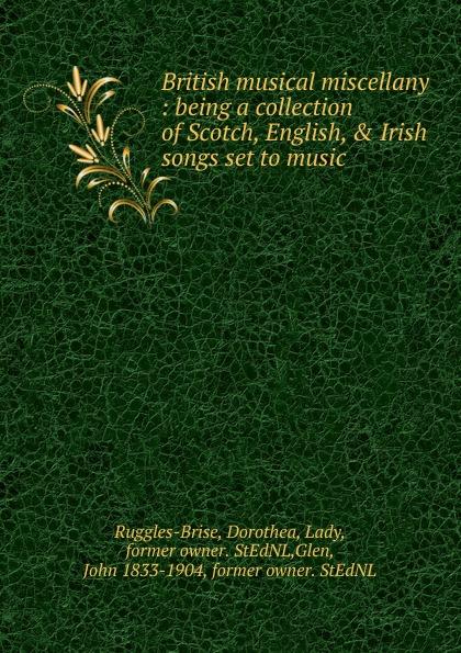 John Playford The British musical miscellany john playford edinburgh repository of music