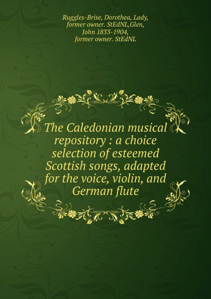 John Playford The Caledonian musical repository john wyeth repository of sacred music