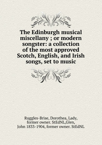 John Playford The Edinburgh musical miscellany john playford edinburgh repository of music
