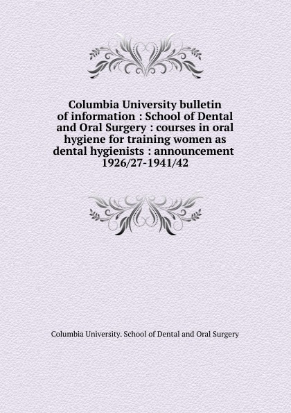Columbia University bulletin of information dental spa oral irrigator water jet tooth hygiene care irrigation cleaner tool