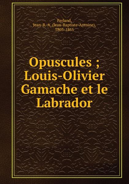 Фото - Jean-Baptiste-Antoine Ferland Opuscules jean paul gaultier le male