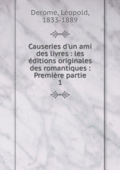 Léopold Derome Causeries d.un ami des livres пуловер ami paris
