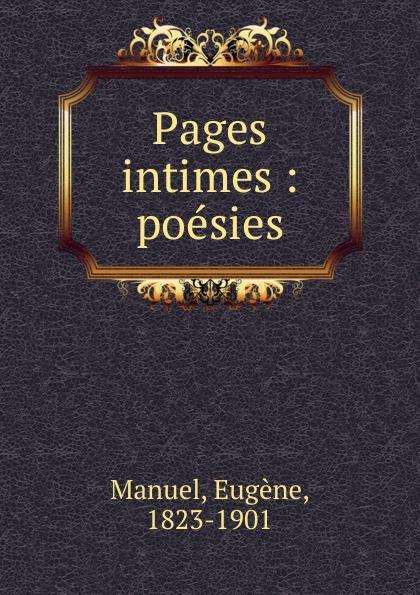 Eugène Manuel Pages intimes цена 2017