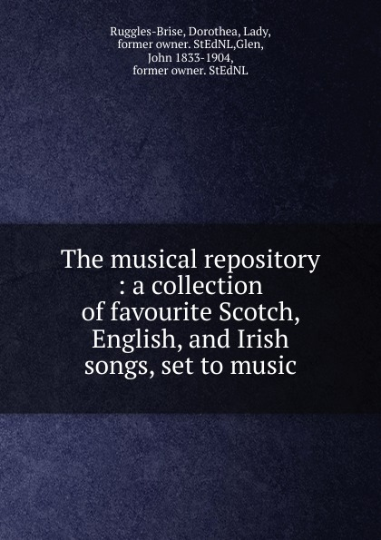 John Playford The musical repository john wyeth repository of sacred music