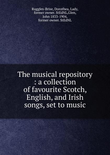 John Playford The musical repository коллектив авторов wyeth s repository of sacred music