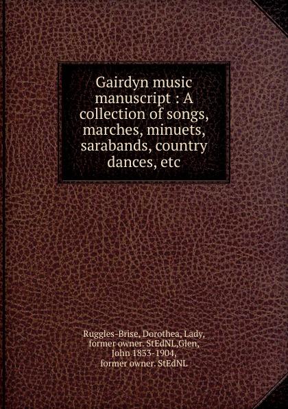 John Playford Gairdyn music manuscript john playford edinburgh repository of music