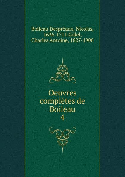 Oeuvres completes de Boileau