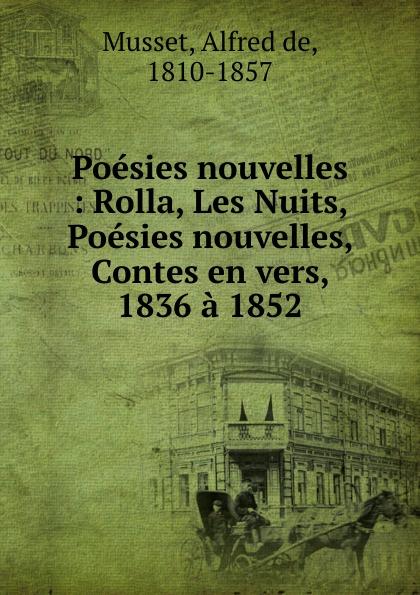 Alfred de Musset Poesies nouvelles
