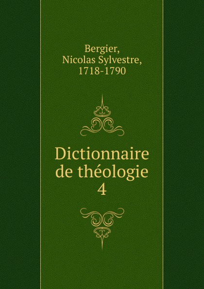Dictionnaire de theologie