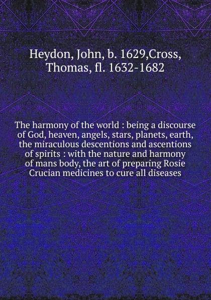 John Heydon The harmony of the world moritz hauptmann the nature of harmony and metre