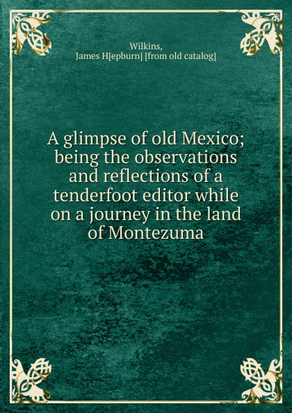 James Hepburn Wilkins A glimpse of old Mexico a glimpse of heaven