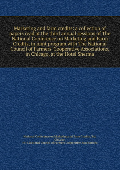 Marketing and farm credits conference at cold comfort farm