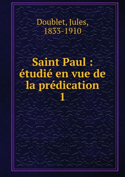 Jules Doublet Saint Paul