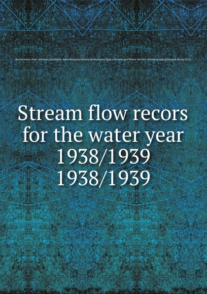 Stream flow recors for the water year 1938/1939 цены